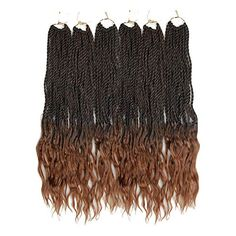 Goddess Senegalese Twist Crochet Hair Curly Ends Deep Wave Synthetic Braiding Hair Kanekalon Ombre Hair Extensions Curly Faux Locs, Faux Dreads, Synthetic Hair Extensions, Braid In Hair Extensions, 100 Kanekalon Hair, Senegalese Twist Crochet Braids, Spring Twist Hair, Twist Hairstyles, Crochet Hair Styles