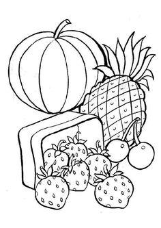 Coloriages de plusieurs sortes de fruits bien murs