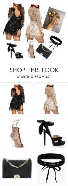 """Untitled #13"" by elkaa993 ❤ liked on Polyvore featuring Giuseppe Zanotti, Jimmy Choo, Chanel and Boohoo"