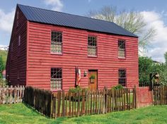 This Saltbox was based on late 18th-century models in New England. It's brand new.. Next few photos are this house. Click on photo to read about this old house.