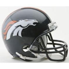 Denver Broncos NFL Mini Football Helmet