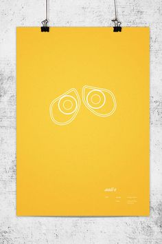 """Wonchan Lee, as """"one of their biggest fans,"""" has created these ultra clean minimal posters of everyone's favourite animation studio Pixar. Wall-E, Up, Finding Nemo, The Incredibles, Toy Story 2, Monsters Inc. are some of the movies featured in the poster series."""