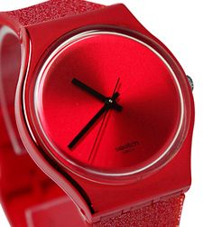 Swatch Watch, Intense Red Glitter