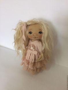Купить Текстильная кукла. Интерьерная кукла. - розовый, бохо, кукла из ткани, кукла интерьерная