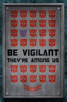 Autobot propaganda poster, fanart.    By qwailotim.  Transformers @ Hasbro.