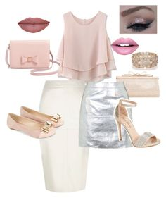 """""""Pink glam outfit day to night"""" by mymyhearts on Polyvore featuring Chicwish, River Island, Monsoon, Ted Baker, Oasis, Fiebiger, Judith Leiber, Topshop and Lauren Lorraine"""