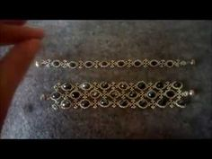 ÜÇ SIRALI KRİSTALLİ BİLEKLİK - YouTube Beaded Beads, Beaded Jewelry, Beaded Necklace, Beaded Bracelets Tutorial, Handmade Bracelets, Beading Tutorials, Beading Patterns, Tiffany Jewelry, Jewelry Illustration