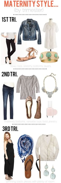 jillgg's good life (for less) | a style blog: Maternity style tips by trimester!