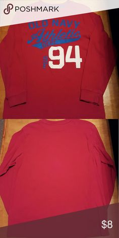 Old Navy boys long sleeve tee Barely worn, great condition. Boys long sleeve tee. No stains. Comes from smoke free and pet free home! Old Navy Shirts & Tops Tees - Long Sleeve