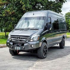We just finished this custom bumper for a local Mercedes Sprinter 4x4! Very cool rig!