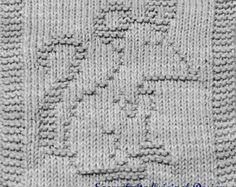 Knitting Cloth Pattern - PAPA MOUSE - PDF