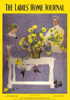 Coles Phillips - The Ladies' Home Journal Magazine cover (November 1911)  Fadeaway