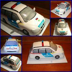 Hungarian police car cake - Rendőrautó torta