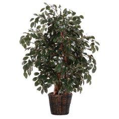 New Beautiful Artificial Plant Dark Green 4-Feet Lush Green Natural Looking NICE