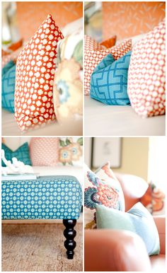 More orange and turquoise goodness  Interior designer- Caitlin Wilson  Photography by Ashlee Raubach