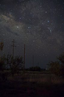 A clear dark night - Marfa, Texas