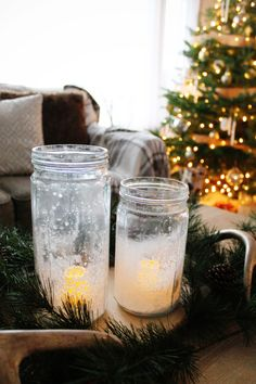 A simple DIY holiday home tour with easy-to-make ornaments, crystal votives, and pretty icicles. Diy Icicle Ornaments, Diy Christmas Ornaments, Glass Ornaments, Christmas Tree Decorations, Dough Ornaments, Holiday Crafts, Ribbon On Christmas Tree, Christmas Love, Christmas Ideas