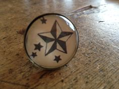 #Star heaven #ring #vintage stijl, #oldschool #tattoo #tatoeage, #nautic made by #lazylola