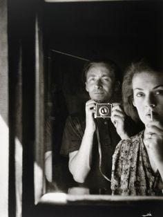 """Albert Tucker - """"In the mirror- self portrait with Joy Hester"""", 1939"""