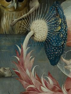 Bosch, Hieronymus (c. 1450-1516) - The Garden of Earthly Delights, central panel - Detail Large flower lower left