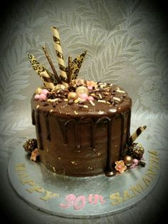 Chocolate Drippy Cake By Lin-Lou Makes www.linloumakes.co.uk :-)