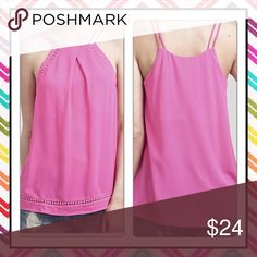 🌸 New Listings 🌸Fuchsia Tanks Summertime tanks! 🌸🌸 Pink is truly a Spring & Summer Staple. Woven spaghetti style straps paired with hem detail and a loose fit.   [Trindy Clozet Boutique Policies]  ✅ Next Business Day Shipping (possibly same day) ✅ Retail prices are firm unless bundled.  ✅ No trades.  Find more styles on our website@  Spreesy.com/trindyclozet  Insta trindy_clozet FB TrindyClozet Twitter trindyclozet Trindy Clozet Boutique Tops Tank Tops