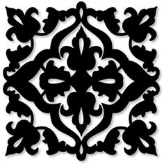 Silhouette Design Store - browse-daily-and-clearance Cnc Cutting Design, Quilt Square Patterns, Hawaiian Quilts, Pattern And Decoration, Stencil Painting, Silhouette Design, Damask, Line Art, Design Elements