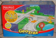FISHER PRICE GEOTRAX RAIL & ROAD SYSTEM CITY TRACK PACK #FisherPriceMattle