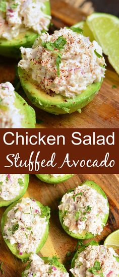 Stuffed Avocado makes a healthy meal full of good fats and nutrition. Creamy, ripe avocados are wonderful stuffed with easy rotisserie chicken salad and flavored with seasoning and lime juice. It's a complete meal that is satisfying and ready in just 20 minutes. Easy Delicious Recipes, Healthy Recipes, Avocado Recipes, Amazing Recipes, Lunch Recipes, Summer Recipes, Easy Dinner Recipes, Healthy Eats, Salad Recipes
