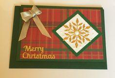 Handmade Christmas Card  Bristol Snowflake Card design for 2015