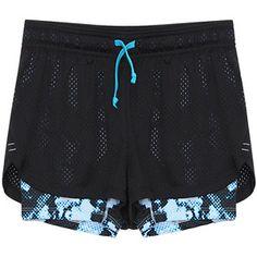 Yoins Double-lined Drawstring Waist Running Shorts