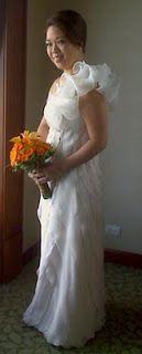 Pinky O's wedding gown... bias cut panels Girls Dresses, Flower Girl Dresses, Wedding Designs, One Shoulder Wedding Dress, Wedding Gowns, Bride, Fashion, Dresses Of Girls, Homecoming Dresses Straps