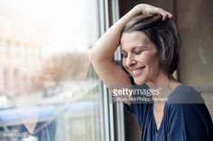 Stock Photo : Woman looking comfortable at home
