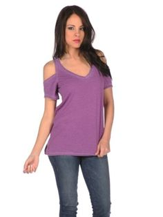 Amazon.com: Chaser Womens Cold Shoulder Shirt: Clothing
