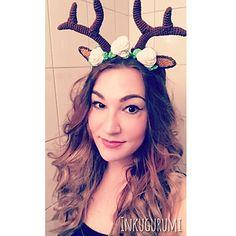 8574adb8b3c92 Deer Headband. Crochet Christmas HatsHalloween ...