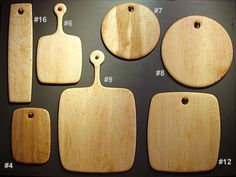 Edward Wohl cutting boards--out of bird's eye maple and beautifully done