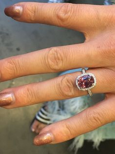 Dancing with the Stars: Emma Slater's pink sapphire engagement ring