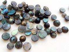 WHOLESALE 10 Pcs Labradorite Round Cabochons by gemsforjewels