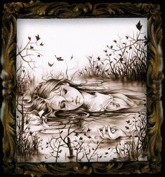 Victoria Frances - Stone Tears - Virgins Of The Lake 4 Medical Illustration, Digital Illustration, Fantasy Illustration, Dark Evil, France Art, Landscape Drawings, Gothic Art, Portfolio, Dark Art