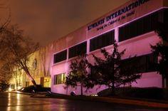 March of Dimes partner, Kiwanis, lit up their building in purple in honor of Prematurity Awareness Day