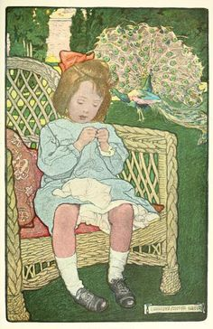 'The Masterpiece.' Illustration by Elizabeth Shippen Green from 'The Book of the Little Past' by Josephine Preston Peabody. Published by Hou...