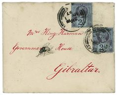 Another letter for Mrs. King-Harman, this time with a faux fly on it. Postmarked 1897.