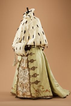 Muff and cape with Worth skirt, 1890's
