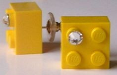 Yellow LEGO brick 2x2 with a Diamond color by MademoiselleAlma, $12.99.... different