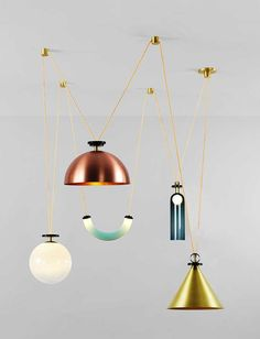 Suspension Shape Up 5-Piece Chandelier, (Roll & Hill).