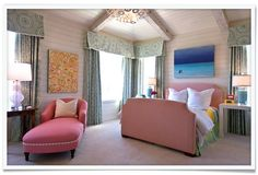 pink childrens bedroom | design by collins-interiors.com