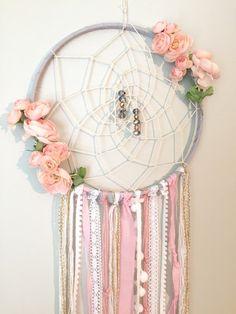 Bohemian Dreamcatcher Boho chic Peachy Pink by BlairBaileyDesign