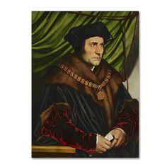 Hans Holbein 'Sir Thomas More' Canvas Art