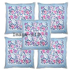 New hand Block Print Cotton Fabric New Floral Print Cushion Cover Pillow Art Sofa Cushion Covers, Cover Pillow, Cushions, Pillows, Art Deco Fashion, Decoration, Printed Cotton, Cotton Fabric, Floral Prints