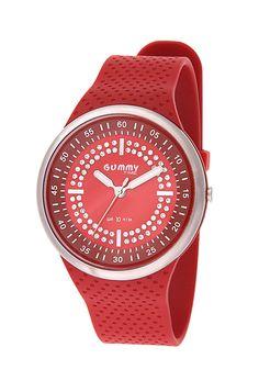 #Orologio Gummy Time GY910-R ROSSO da donna, di tipo solo tempo con bracciale in gomma e movimento al quarzo.